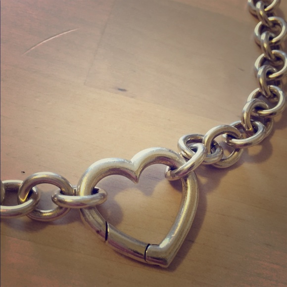 f53365839fac8 Tiffany & Co. Heart Clasp Link Necklace